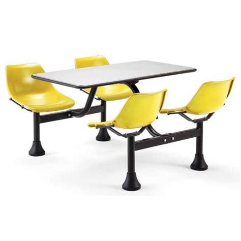 cluster yellow table and chairs ofm office furniture