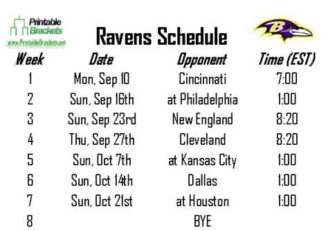 printable ravens schedule 2015 ravens schedule baltimore ravens schedule 187 printable