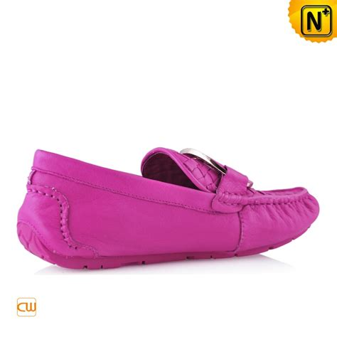 pink leather loafers colorful leather loafers shoes cw300380