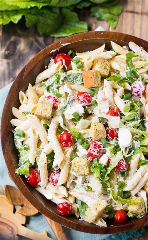 caesar pasta salad recipe chicken caesar pasta salad caesar pasta salads and light summer meals