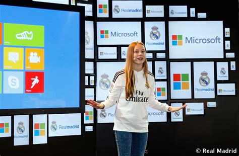 Microsoft Real Madrid real madrid unveil agreement with microsoft photos