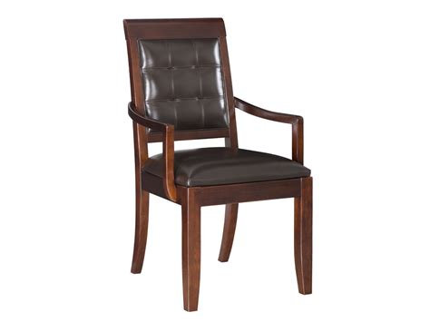 Wooden Dining Chairs With Arms Furniture White Fabric Dining Chairs With Arms Curvy Backrest On Four Brown Wooden Legs