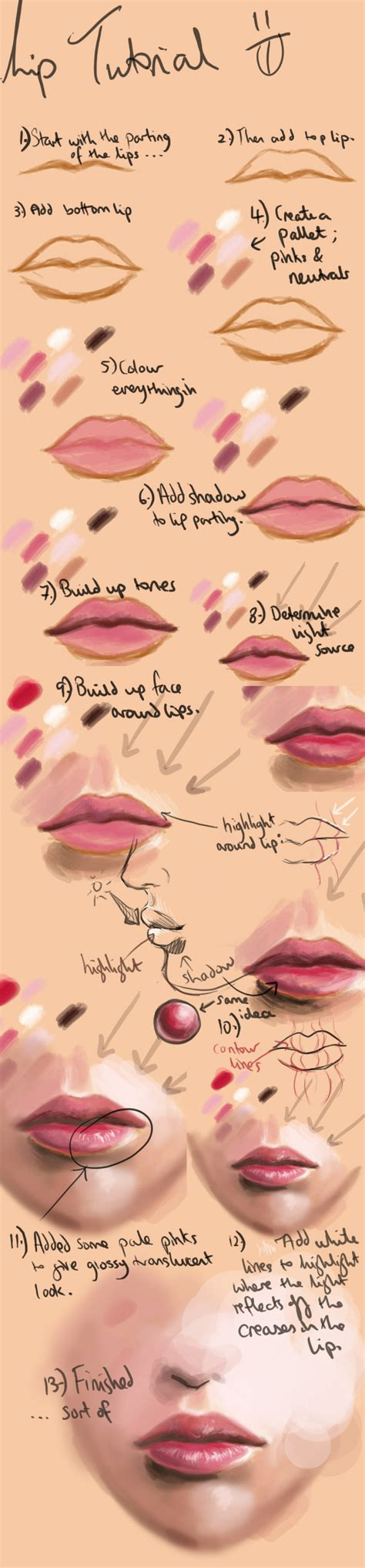watercolor lips tutorial lips drawing tutorial drawing and painting tu