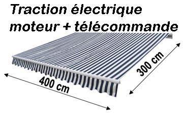 store banne electrique 18 store banne 4 m x 3 m motoris 233 avec t 233 l 233 commande
