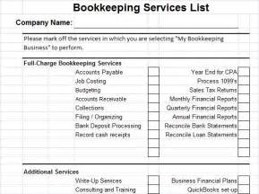 Company Bookkeeping Templates by 10 Best Images Of Accounting Services Template