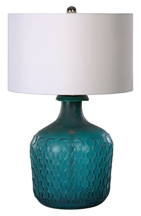 Turquoise Lava L by Uttermost Laval Blue Glass Table L Everything Turquoise