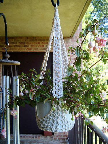 Yarn Plant Hanger - crochet plant hanger crochet flower pot cozy hanging