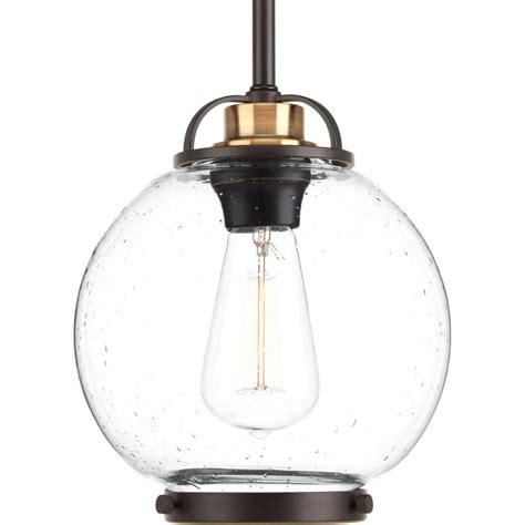Bronze Mini Pendant Lights Progress Lighting Chronicle Collection 1 Light Antique
