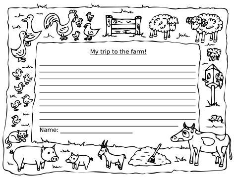zoo writing paper back in your classroom stepney city farm back in your