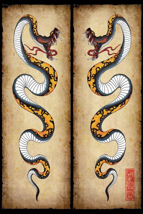 serpent tattoo designs snake design by burke5 tattoos