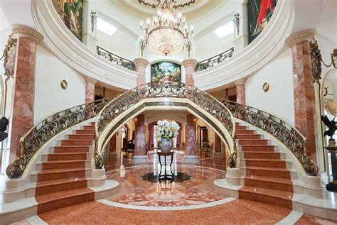 lomonaco s iron concepts home decor tuscan curved stairway french baroque beverly hills chateau 18 950 000