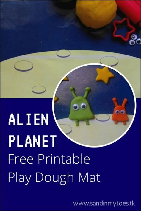 printable space playdough mats busy hands alien play dough mat free printable