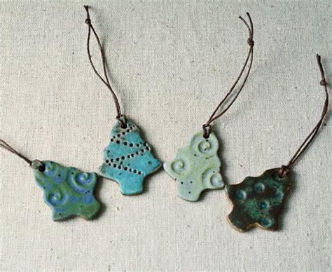 Handmade Clay Ornaments - handmade ceramic ornaments funky trees