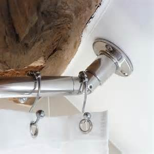 sloped angled ceiling shower rod