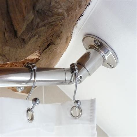 angled shower curtain rod sloped angled ceiling shower rod