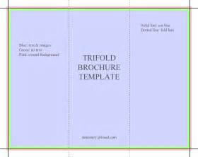 Brochure Templates by Trifold Brochure Template Flyer Handout 3 Fold
