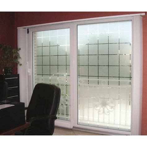 light blocking window film patterned decorative white frosted window film privacy
