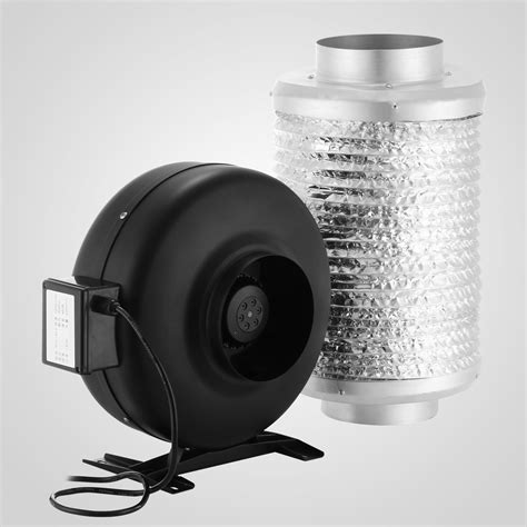 carbon filter exhaust fan duct fan air blower carbon filter kit w pre filter odor