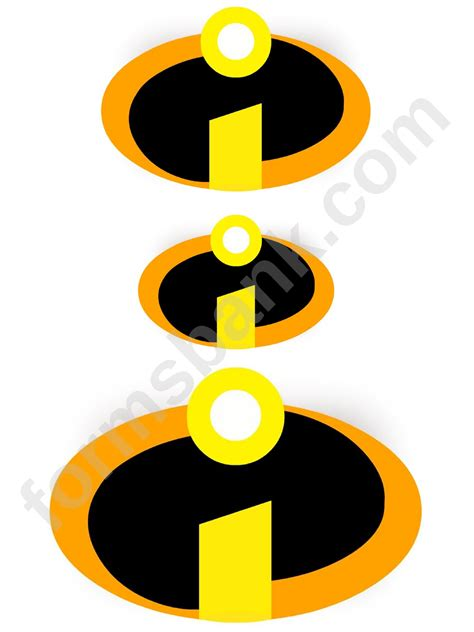 incredibles logo template printable