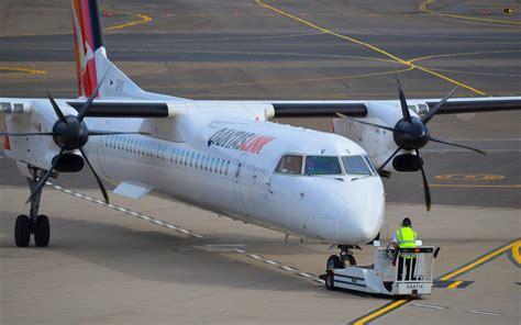 qantas bombardier dash    sydney airport full hd