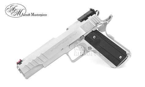 Airsoft Masterpiece Steel Frame Sv Silver airsoft masterpiece 1911 square trigger guard aluminum frame no marking