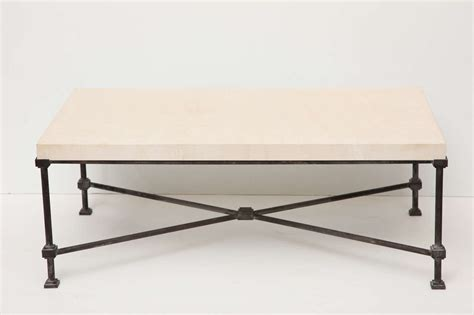Coffee Table With Metal Base Limestone Top Coffee Table With Metal Base At 1stdibs