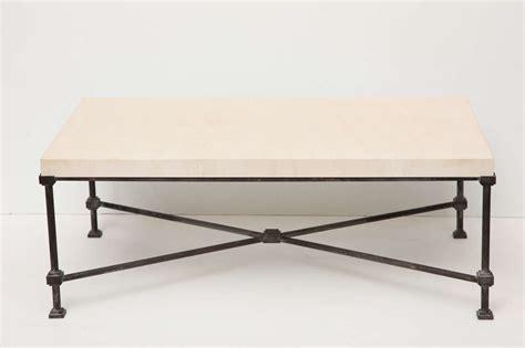 Metal Base Coffee Table Limestone Top Coffee Table With Metal Base At 1stdibs