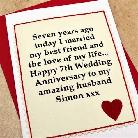 Wedding Anniversary Gift Uk by 7th Wedding Anniversary Gifts For Husband Uk Lamoureph