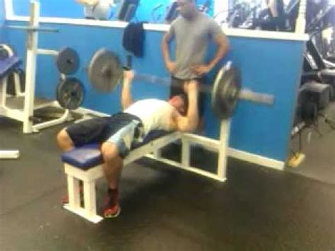 185 bench press sam benfield 16 yrs old 26 reps 185 bench press test 2 27