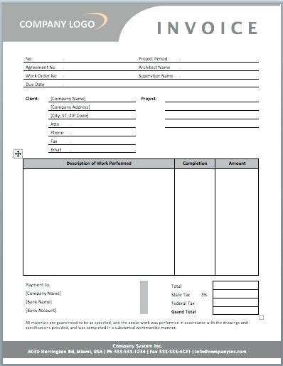 marketing invoice template how to write a construction invoice dinara me