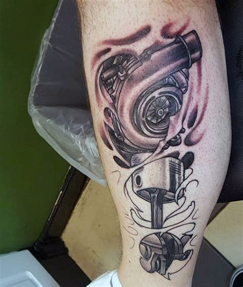 automotive tattoos 60 piston designs for unleash high horsepower