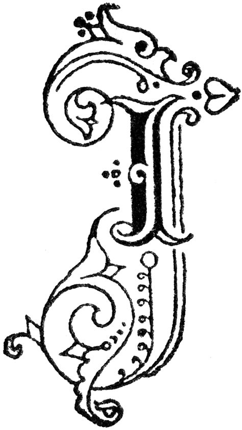 I Decorative by Decorative Letter I Clipart Etc