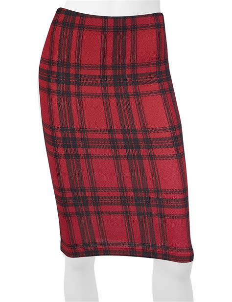 a byer black plaid pencil skirt stage stores