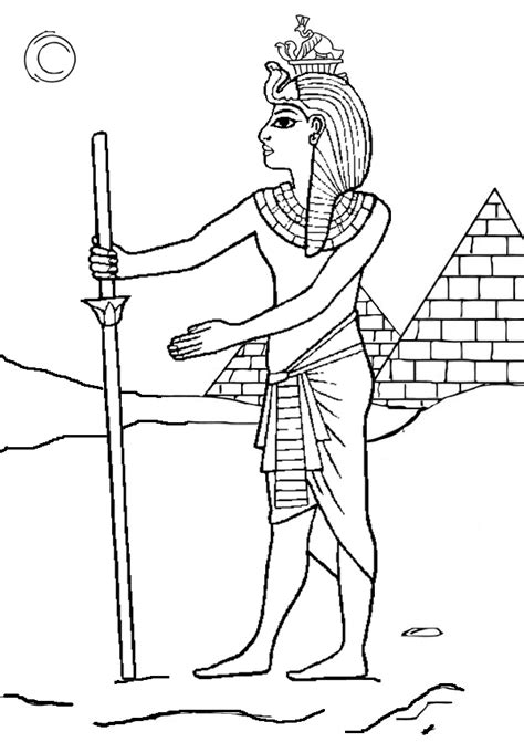 Pharaoh Coloring Pages free printable colouring pages pharaoh colouring page