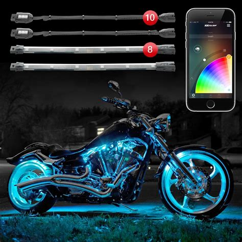 led glow lights for motorcycle xkglow 174 xkchrome bluetooth app control multi color