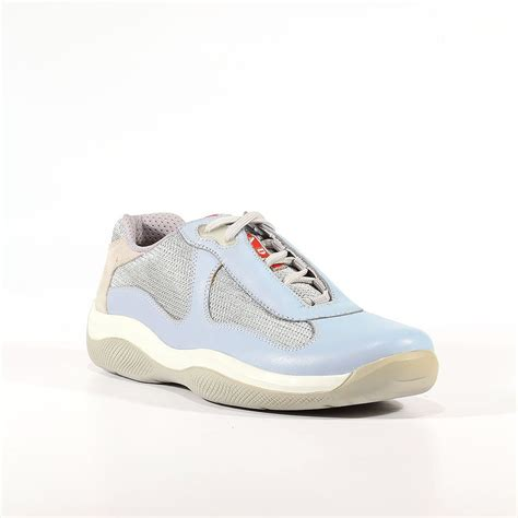 mens prada sneakers prada sports mens shoes designer light blue sneakers prm47