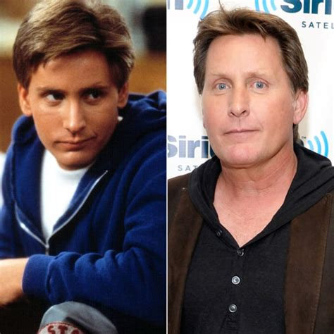 american actors of the 80s emilio estevez 80s stars then and now us weekly