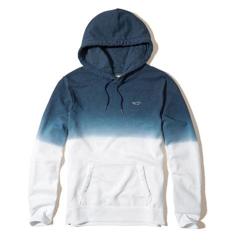 light blue hollister hoodie lyst hollister dip dye icon hoodie in blue for men