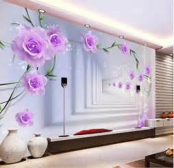 Wall Mural For Bedroom elegant photo wallpaper custom 3d wall murals purple
