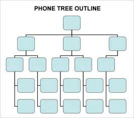 employee tree template phone tree 6 free pdf doc