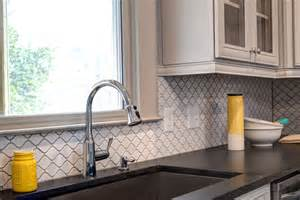 arabesque tile kitchen traditional with custom cabinetry