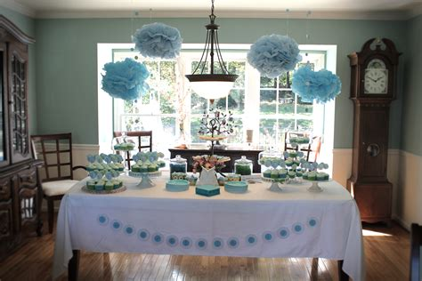baby boy bathroom ideas baby shower decoration ideas for boys blue tissue paper pom pom for menu table camo