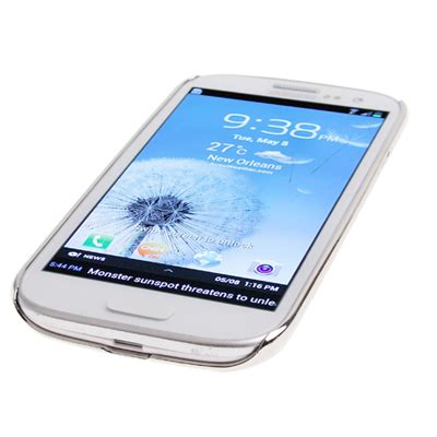 Acrylic Tangerang luxury bling plating skinning plastic for samsung galaxy siii i9300 gray