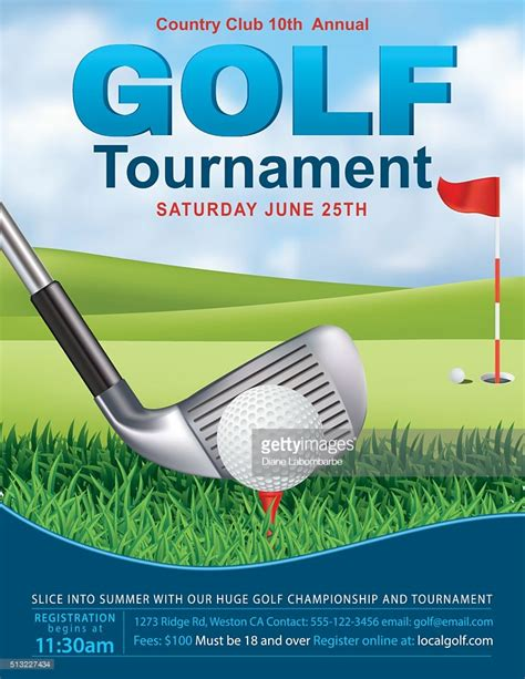 Golf Cart Tournament Cards Template by Golf Tournament Template With Putting Green And