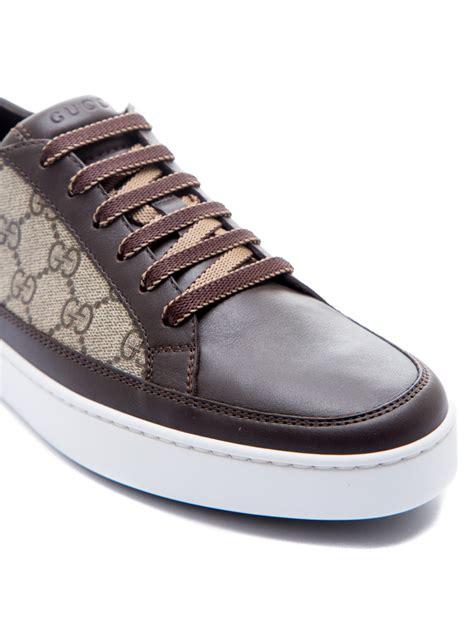 gucci sport shoes brown credomen