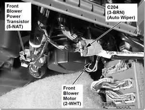 blower motor resistor location 2004 honda pilot honda pilot ex l 2004 front ac blower not working rear blower is working