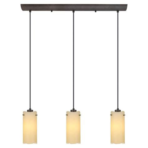 Eglo Island Lighting Eglo Severo 3 Light Antique Brown Hanging Island Light 20958a The Home Depot