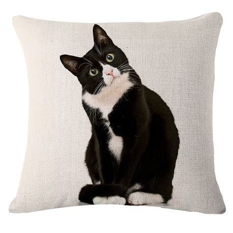 cat home decor cute black cat home decor throw pillow case sofa waist