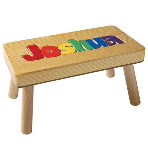 Name Puzzle Step Stool by Puzzle Name Step Stool Rachael Edwards