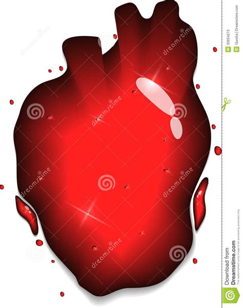 heart shape man scaping heart splash stock photos image 33934273